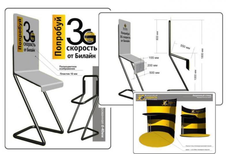 Дизайн акционного стенда